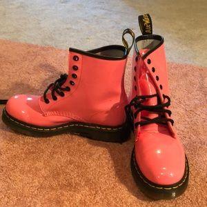 Pink patent doc martens